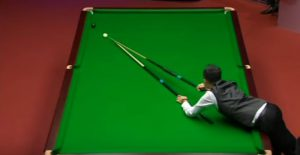 Marco Fu using Blue Moons Telescopic snooker equipment at w2017 World Championships