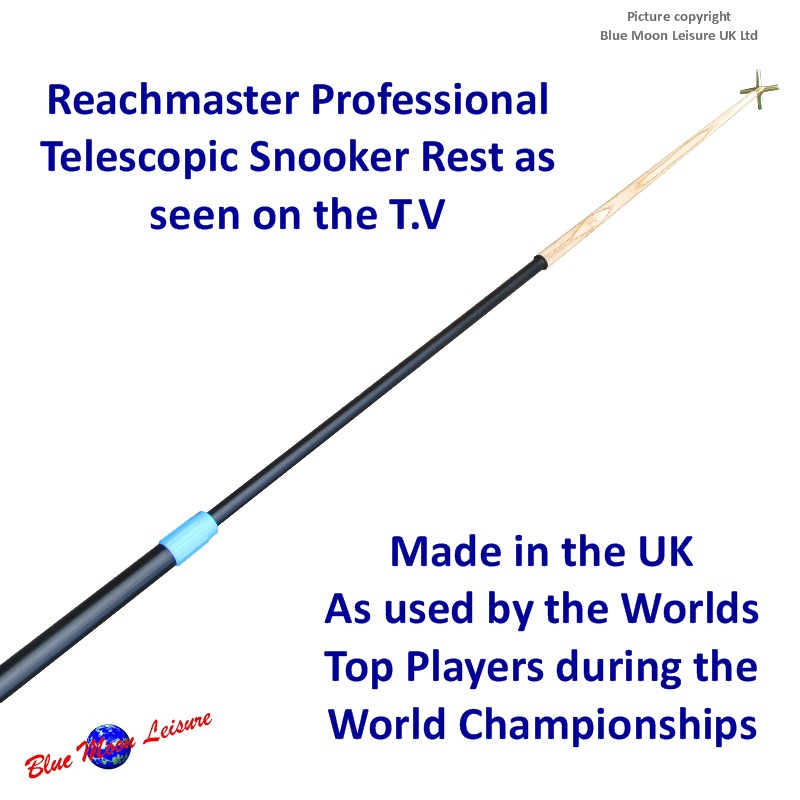 Reachmaster professional extending telescopic snooker table rest from Blue Moon