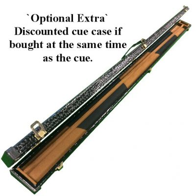 Butt jointed snooker and pool Cue case at discounted price