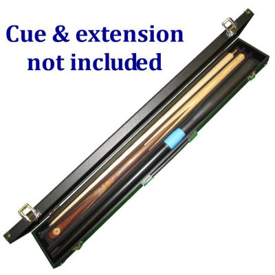 2 piece 3 section cue case to hold a 2 piece cue and push-on snooker cue extension.