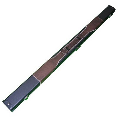Black and 3 piece Black and Tan Leatherette 3pc cue case