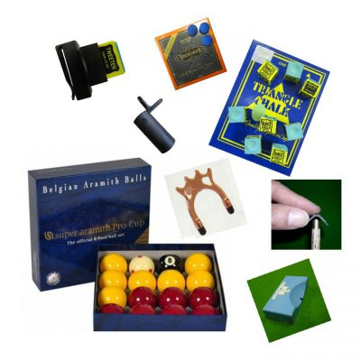snooker and pool accessries