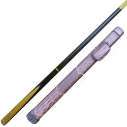 Brayford Blue 3 section snooker pool cue and brown weave tubular-cue-case