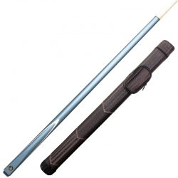 Cannon Cobra 2 piece snooker / Pool cue with brown weave tube case