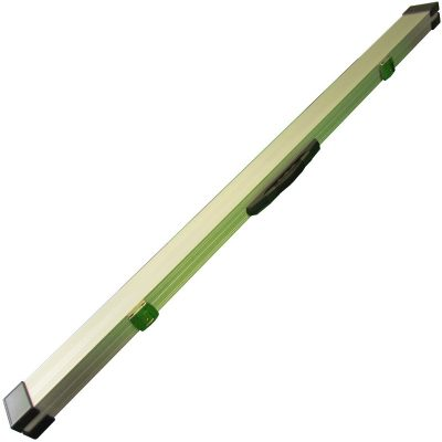 Silver aluminium cue case for 3 piece butt jointed snooker or pool cue